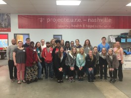 Students and faculty volunteer at Project Cure
