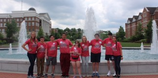 Students participating in the Summer Transitions Academy