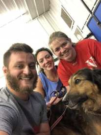 PT students train therapy dogs