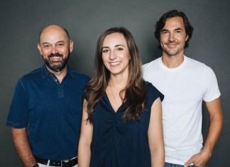 Pictured (L-R): Bruce A. Gates, Nicole Dovolis, Luke Wooten