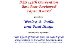 Bulla-Mayo AES award
