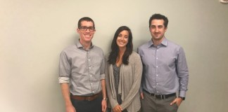 Group of three students who competed in ACCP Clinical Pharmacy Challenge
