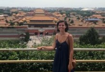 Student Sophie Reichert in China