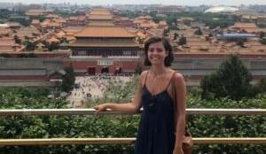 Student Sophie Reichert in China