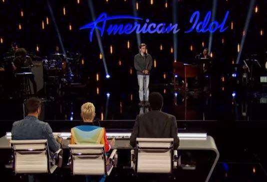 Walker Burroughs performs on American Idol
