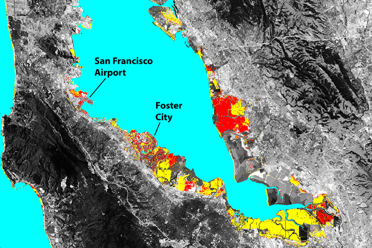 Sinking land will exacerbate flooding from sea level rise in Bay     Bay Area flood risks