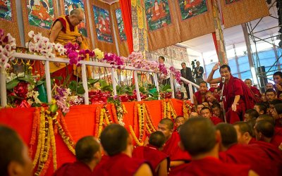 Dalai Lama at 31st Kalchakra Initiations at Bodh Gaya