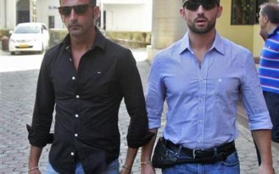 Italian Marines Massimiliano Lattore and Salvatore Girone in India
