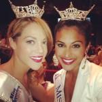 Miss NY Nina Davuluri with Miss Ohio