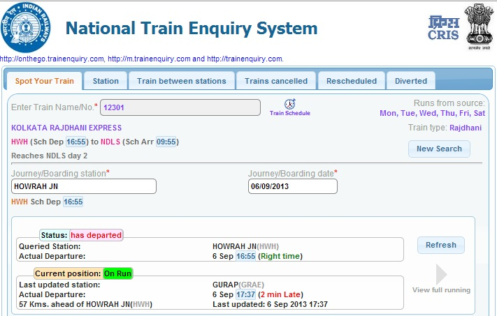New Online Train Enquiry System Launched By Indian