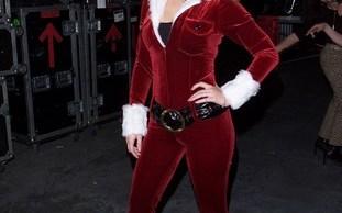 Jessica Simpson dressed as Sexy Santa Claus