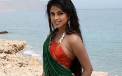 Amala Paul Hot Backless in Saree