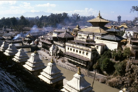 A Bird's Eye View of Pashupatinath Temple at Kathmandu Nepal