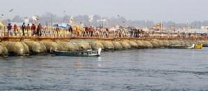 Pontoon Bridge on Ganga River at Allahabad