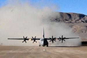 IAF C130J Super Hercules Aircraft lands at DBO in Ladakh