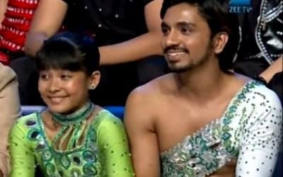 Teriya Magar with Jay during the Dance India Dance Little Master 3
