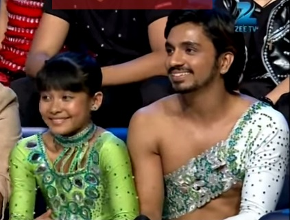 Teriya Magar with Jay during the Dance India Dance Little Master 3