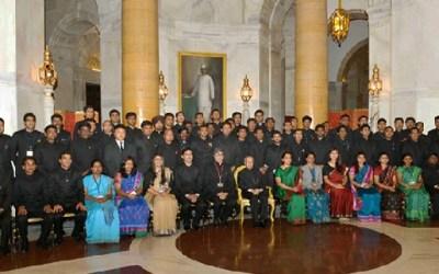 Probationer IAS Officers with President Pranab Mukherjee