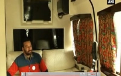 The insider view of On Wheels Tourist Bus in Kashmir