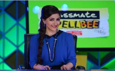 Soha Ali Khan on the sets of Classmate Spell Bee