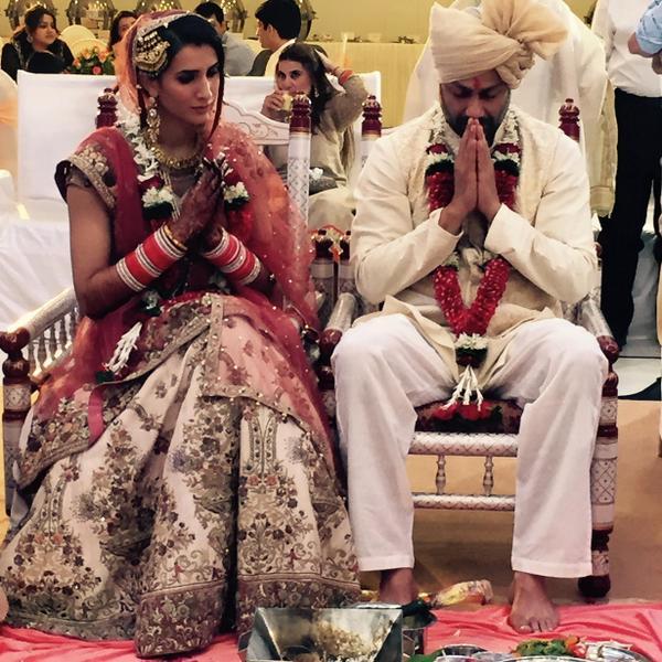 Abhishek Kapoor and Pragya Yadav during their Wedding