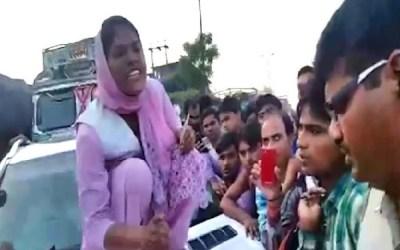 Sadhvi Pandey wrecked SP Leader Abhinav Sharma's Car in response to Eve Teasing