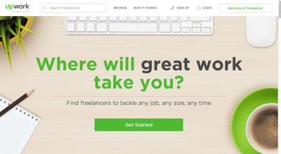 Upwork.com homepage