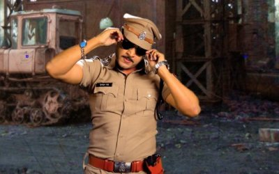 Raja Sagoo dressed as Chulbul Pandey