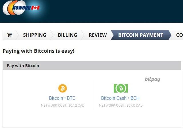 Newegg permite pagamentos por criptocorrência para clientes canadenses