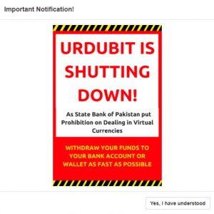 Troca Urdubit do Paquistão é encerrada após proibição de criptografia