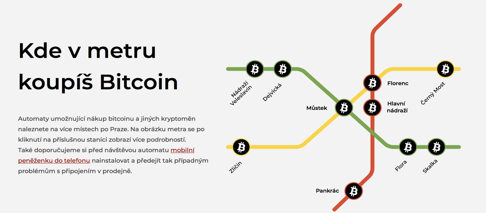 Prague Subway System Now Has Ten New Bitcoin ATMs