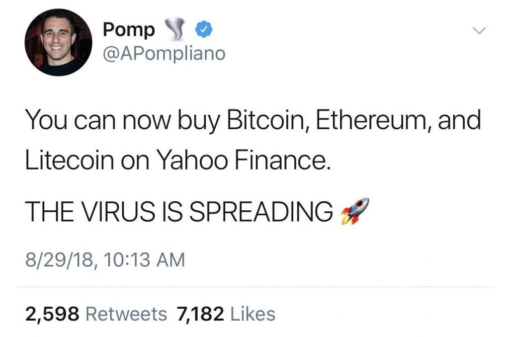 Yahoo!  Finanças lança Bitcoin, Ethereum, Litecoin Trading