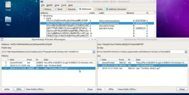 OpenswapはウォルレットBCHとBTCのアトミックスワップを可能にする