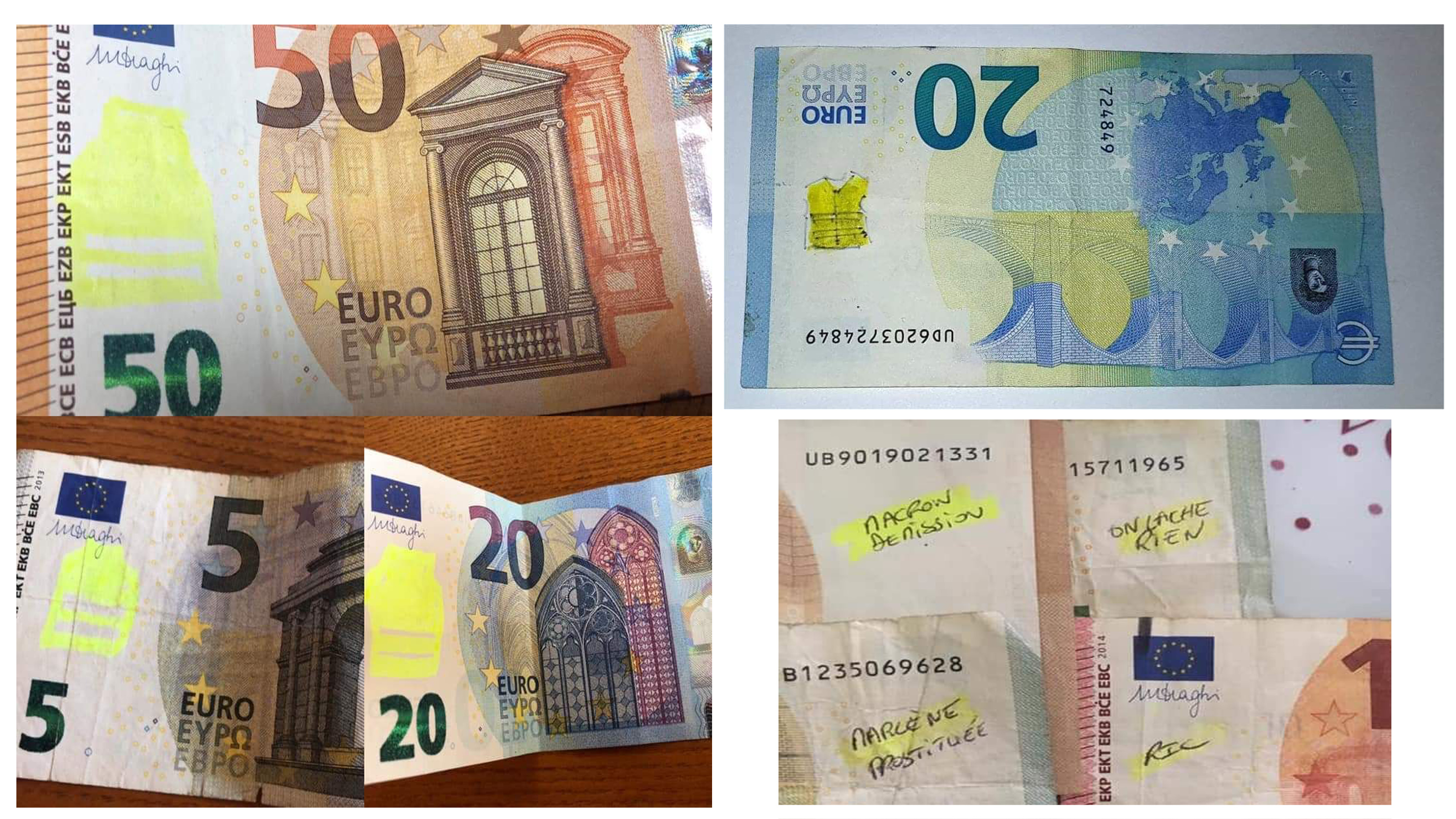 Yellow Vest Movement Starts a New Form of Protest — Burning Banknotes