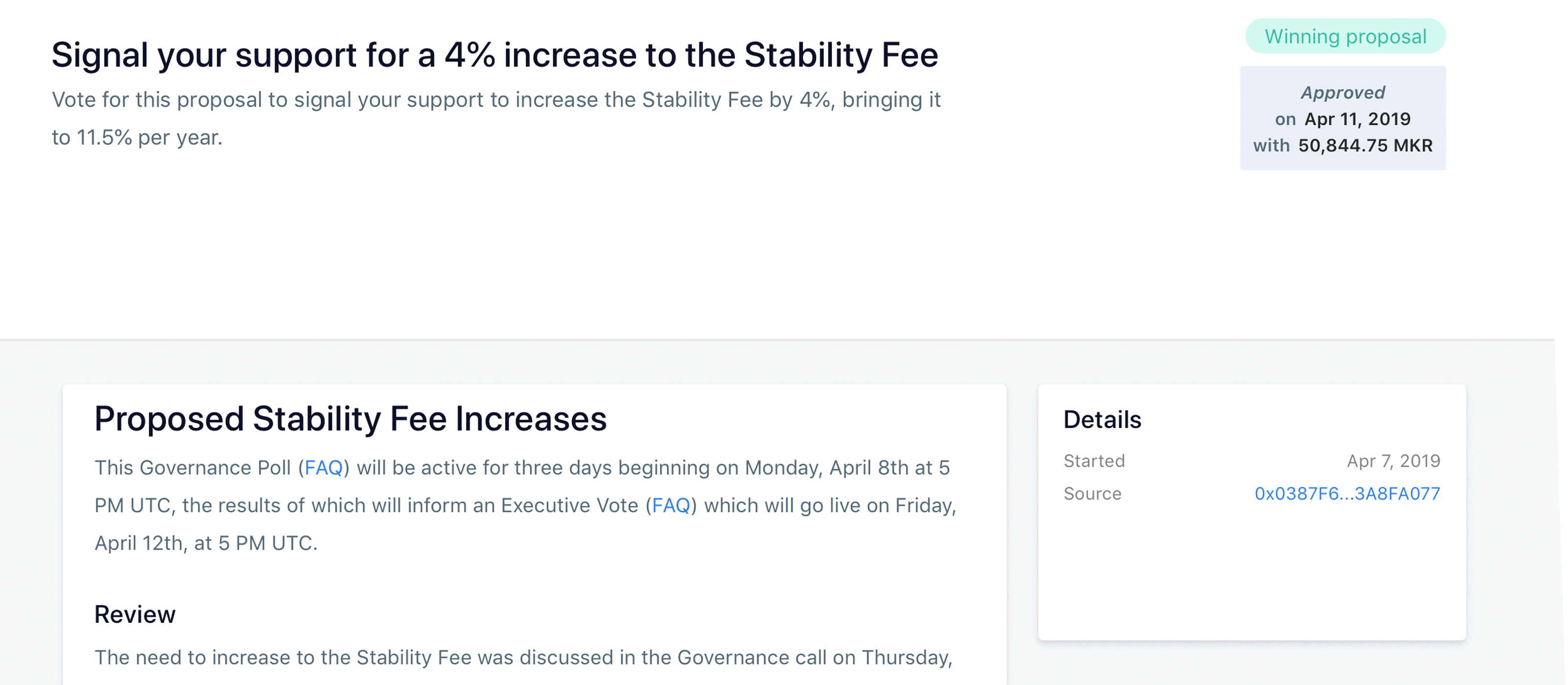 Maker Community Votes to Raise Stability Fee as Dai Struggles to Hold $1 Peg