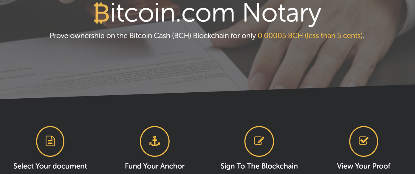 Anchor a Document or File to the BCH Chain With Notary.Bitcoin.com