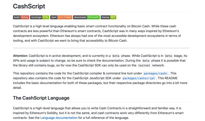Bitcoin Cash Innovation Accelerates With Cashscript High-Level Language