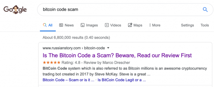 Don't Invest in Bitcoin Code, Bitcoin Doubler or Bitcoin Trader – They Are All Scams