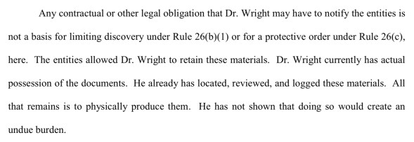 Judge Gives Craig Wright New Deadline Citing Forgery, Perjured Testimony in Court