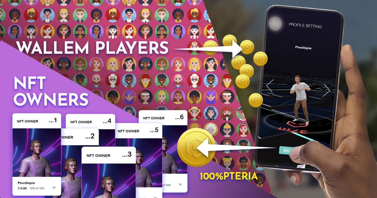 Pewdiepie Joins the Blockchain AR Game Wallem, Players Can Buy Youtube Star's NFT Skin