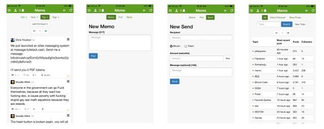 Onchain social media platform memo for Bitcoin Cash payment launches iOS app