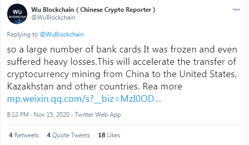 OCC's Brian Brooks says China owns Bitcoin, but the cryptocurrency world disagrees: China's crackdown pushes miners away