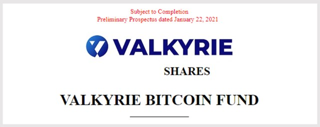 In 2021, the crypto ETF competition in the Valkyrie Bitcoin Trust documents heats up and is listed on the New York Stock Exchange