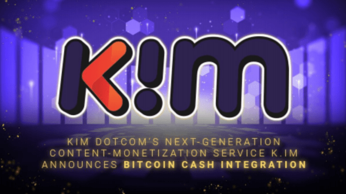 Kim Dotcom's Next-Generation Content-Monetization Service K.IM Announces Bitcoin Cash Integration