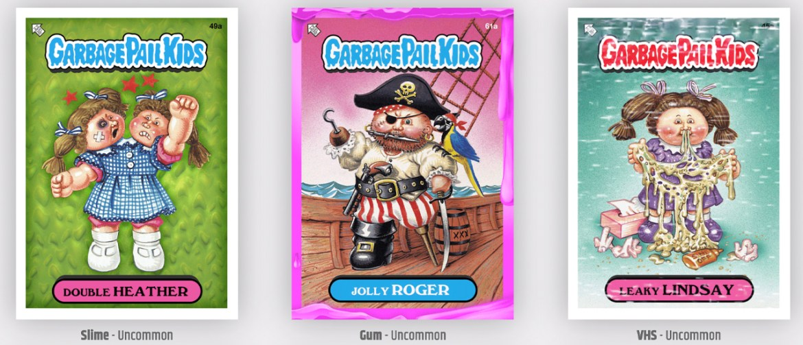 Topps Garbage Pail Kids Blockchain Collectibles Can Be Found at Target and Walmart
