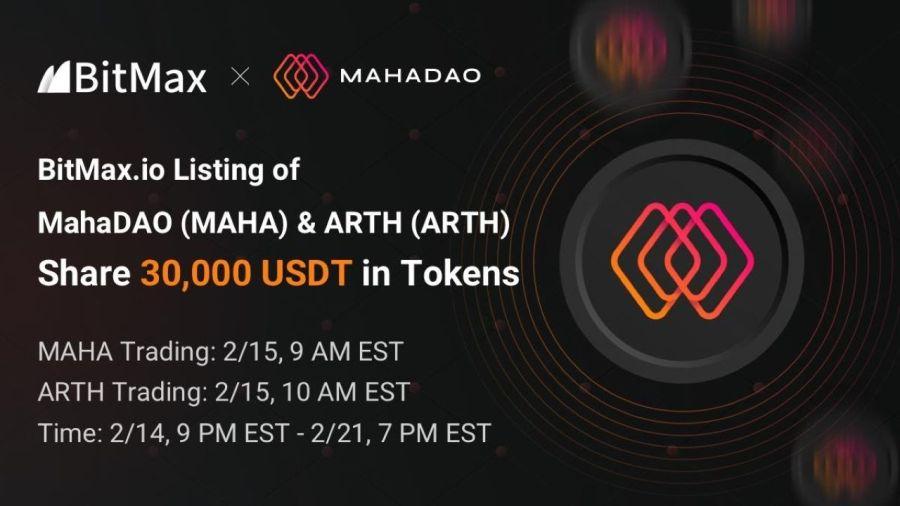 MahaDAO to List MAHA and ARTH With BitMax.io