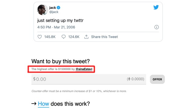 Selling social media posts for $1.5 million?Blockchain-certified tweet sales trigger NFT controversy