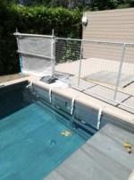 La piscina con l'access point per esterni