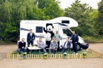 Campanda Team mit Panda-Maskottchen