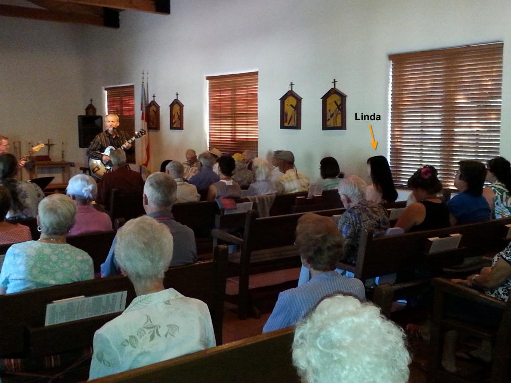 6-21-15 Linda in Church